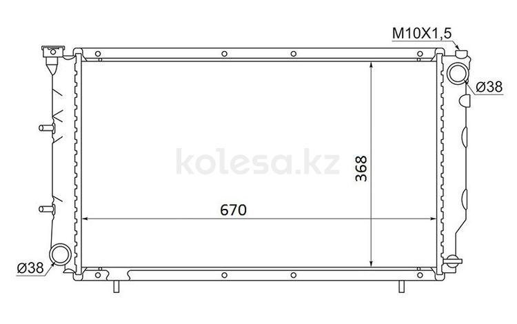 Радиатор Subaru Legacy 1.8/2.0 89-93/2.5 93-97 за 26 200 тг. в Алматы