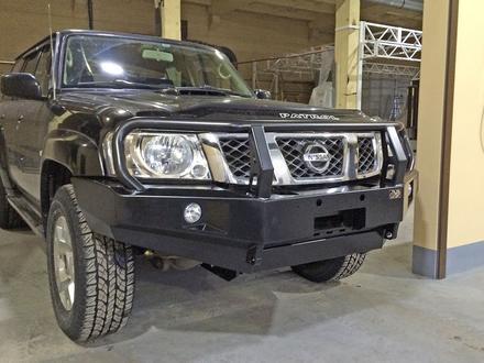 Бампер РИФ передний Nissan Patrol Y61 2004+ за 335 000 тг. в Алматы – фото 5