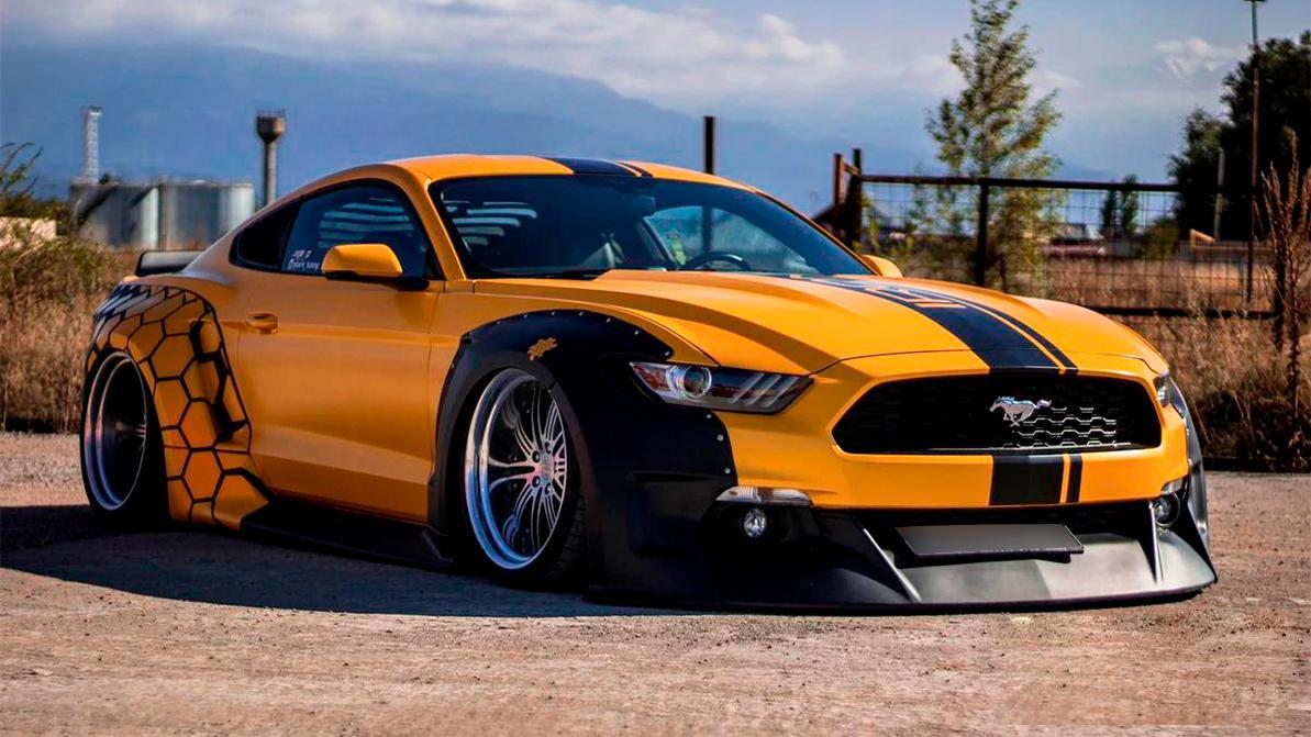 За 22 млн хотят продать широкий Ford Mustang на пневмоподвеске