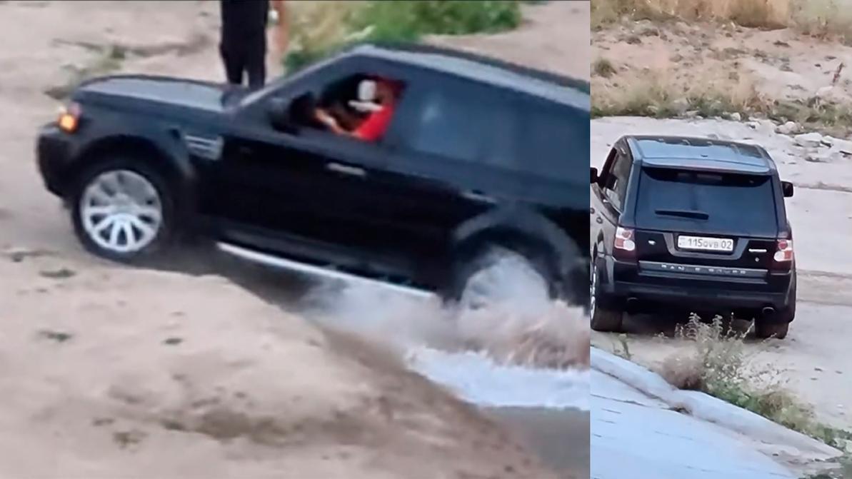 «Купание» Range Rover Sport в алматинской речке обошлось водителю почти в 14 тысяч тенге