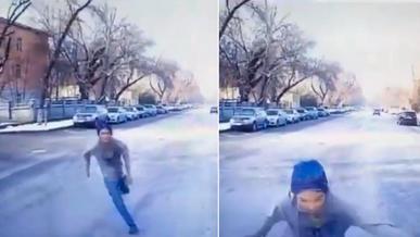Неадекватный мужчина «забодал» скорую в Алматы