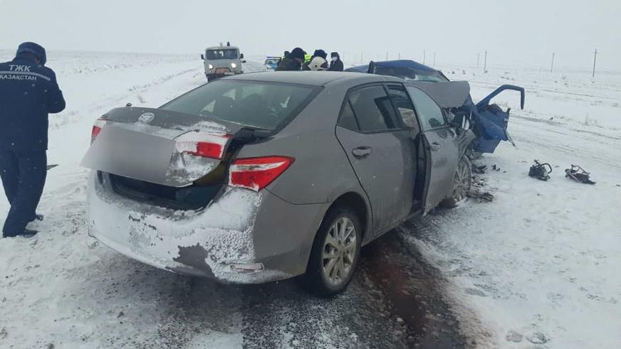 Сразу два серьёзных ДТП произошло на трассе Уральск – Атырау
