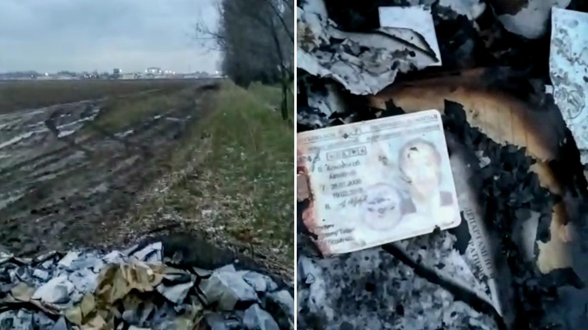 Гору документов казахстанцев нашли в поле