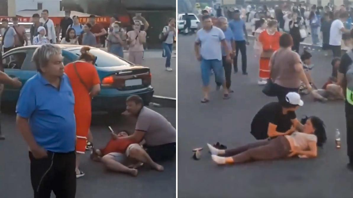 Пьяный водитель сбил троих пешеходов возле «Алтын Орды»