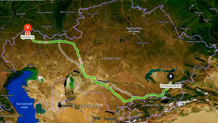 3000 км по Казахстану на электрической самоделке