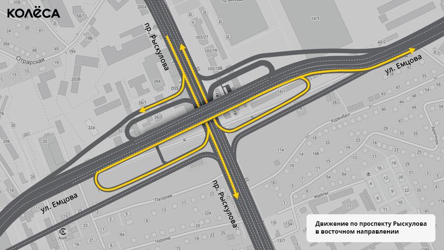 Как будем ездить через развязку Рыскулова – Емцова в Алматы