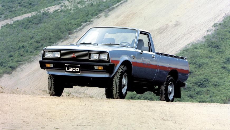 1980 год — Mitsubishi L200 первого поколения (рестайлинг)