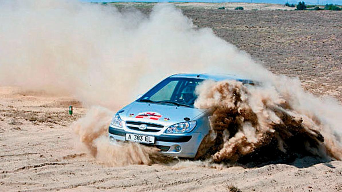 2007 год — спортивный Hyundai Getz построенный нашими спортсменами