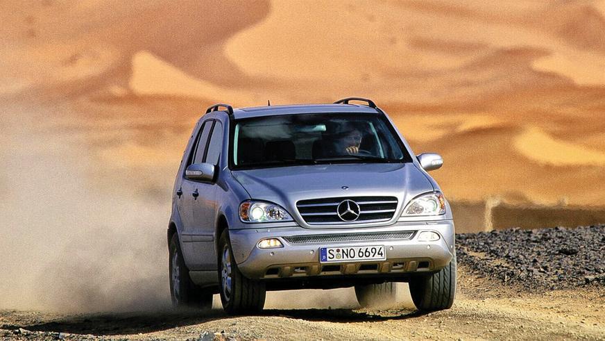 2002 год: Mercedes-Benz ML первого поколения (W163) (модернизация)