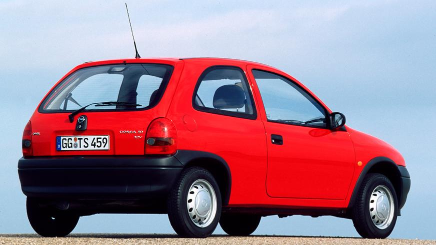 1993 год — Opel Corsa второго поколения
