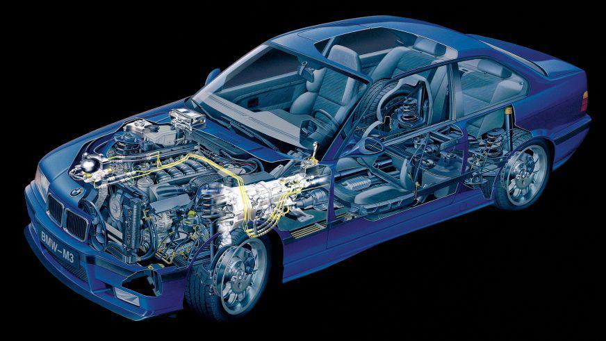 BMW M3 - 1996 - шасси