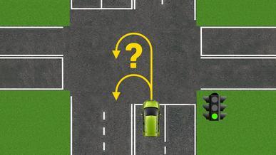 Как правильно развернуться на перекрёстке?