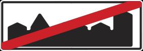 Знак 5.23а «Конец населённого пункта»