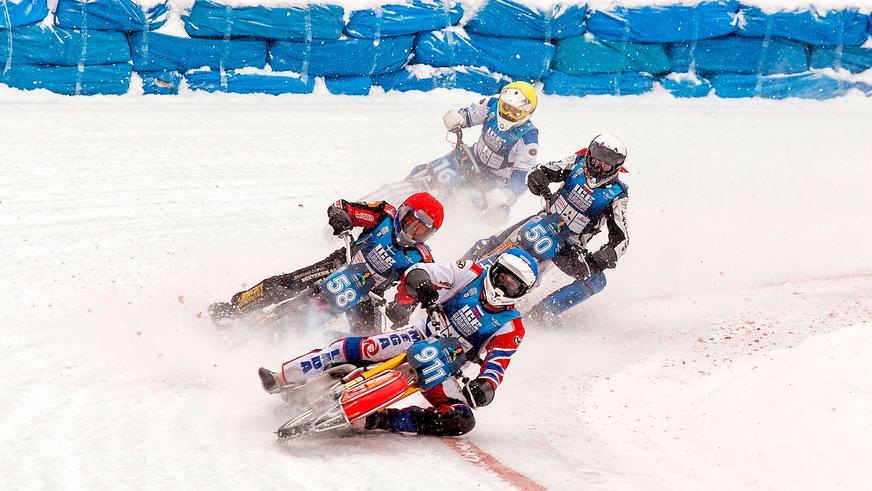 Крутые мотогонки на льду в Астане в эти выходные