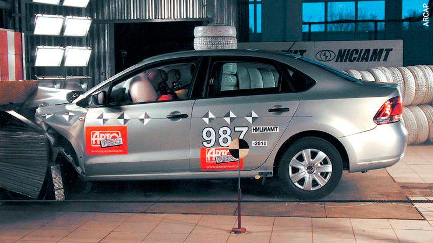 Volkswagen Polo Sedan - краш-тест