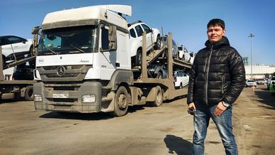 Насколько тяжела работа дальнобойщика? Везём машины на автовозе из России в Казахстан
