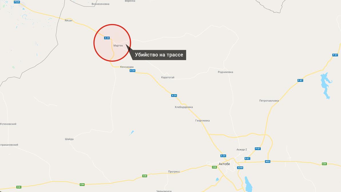 Водителя застрелили на трассе близ Актобе