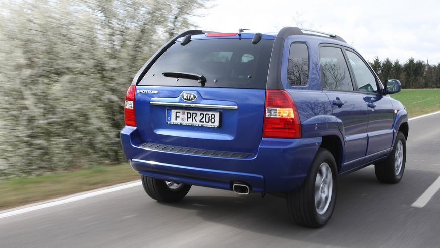 2007-2008. Kia Sportage (КM) алғашқы рестайлингтен кейін