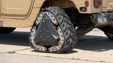 Колесо-трансформер для военных изобрели в США