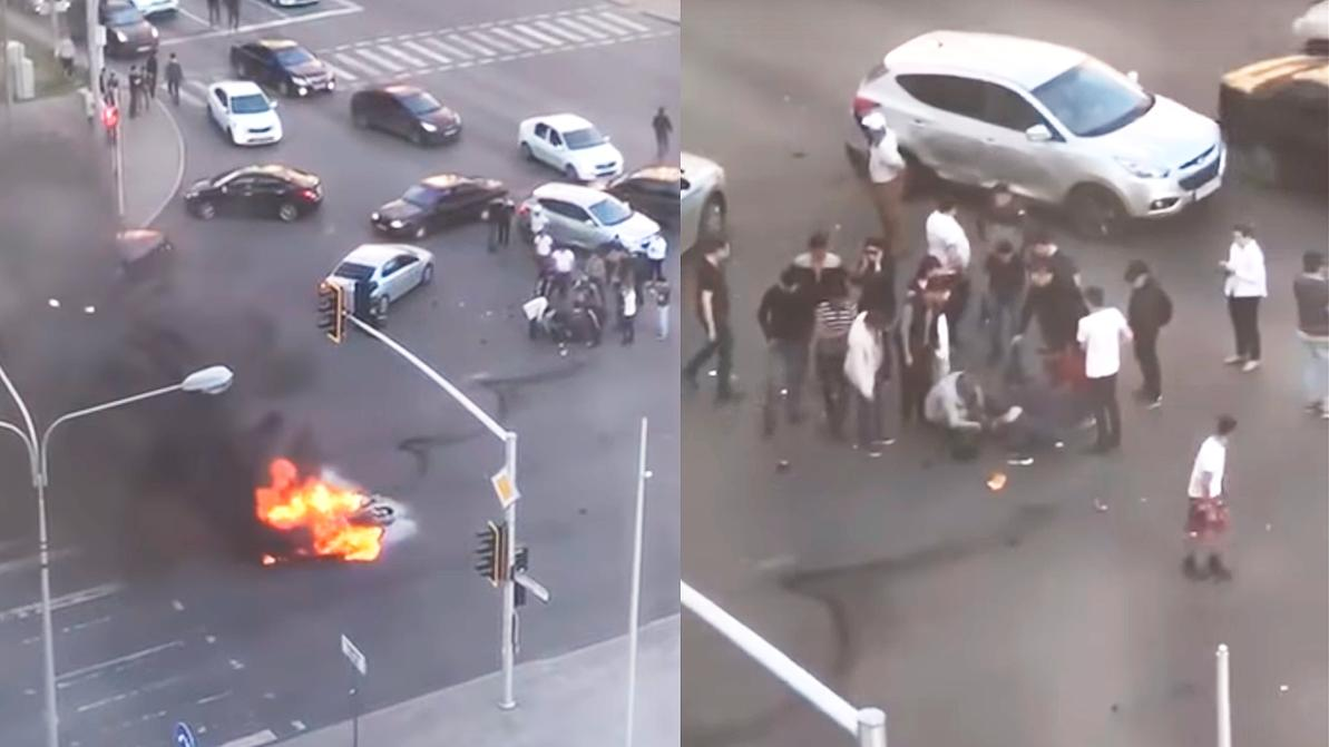ДТП с внуком Сулейменова попало на видео