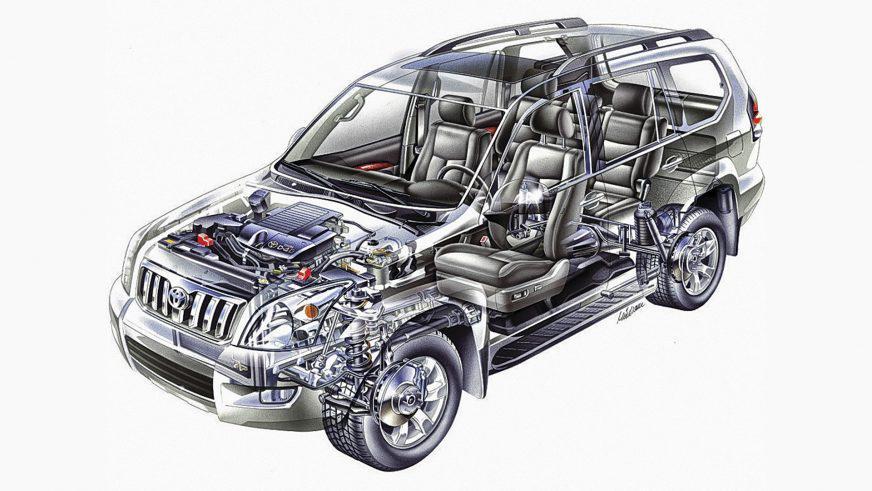 Toyota Land Cruiser Prado - 2008 - трансмиссия