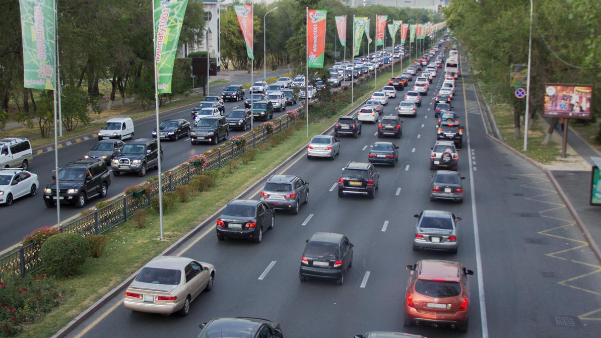 Количество машин в Алматы не должно расти до 2035 года