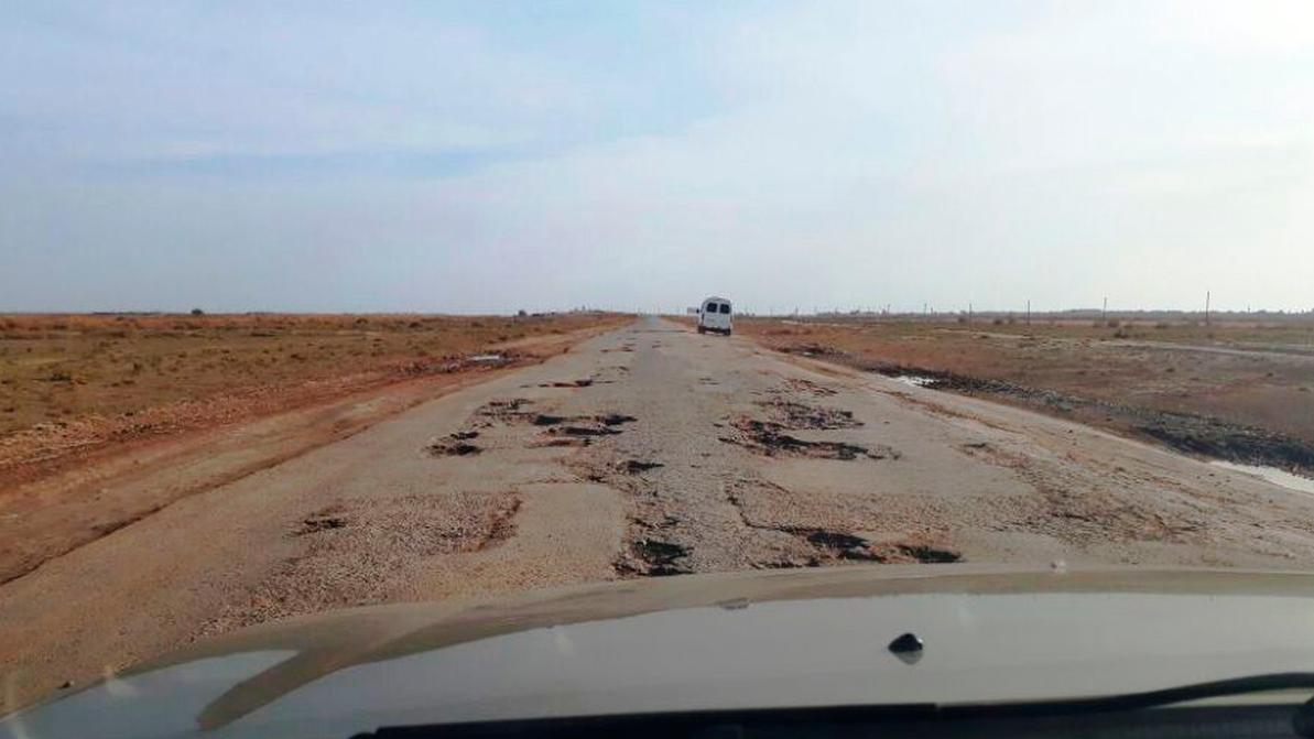 Трасса от Атырау до Астрахани наконец-то дождалась ремонта