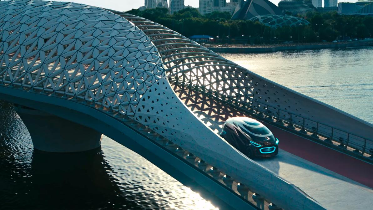 Новый концепт Mercedes-Benz сняли в Астане