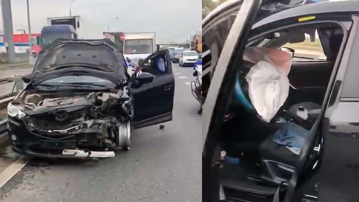 Убегая от полиции, пьяная женщина устроила погром на МКАД