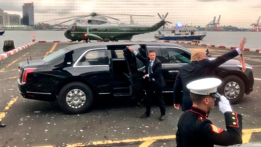 Новый лимузин Трампа впервые показался на публике