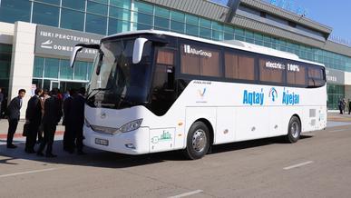 В Актау запустили электрические автобусы