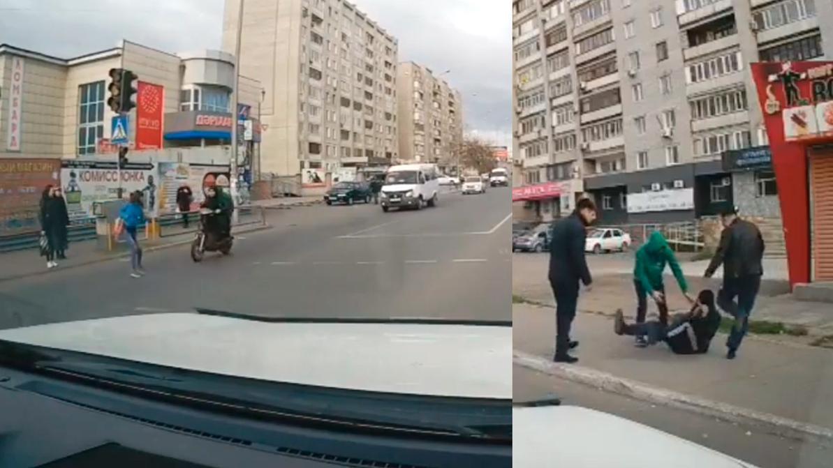 Мопедист сбил пешехода в Семее и пытался скрыться