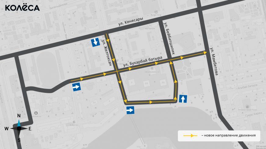 Больше односторонних улиц в Астане