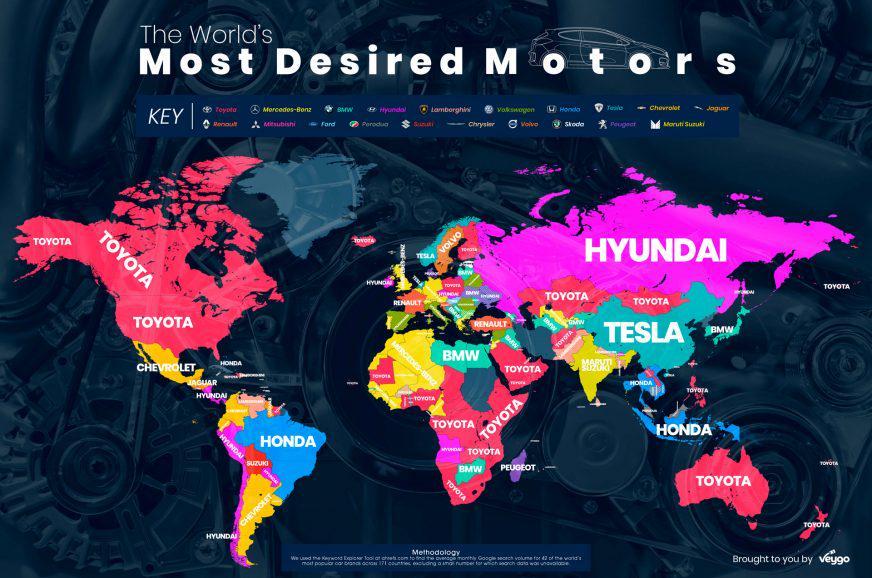 """Во всём мире чаще гуглят """"тойоту"""". И в Казахстане тоже"""