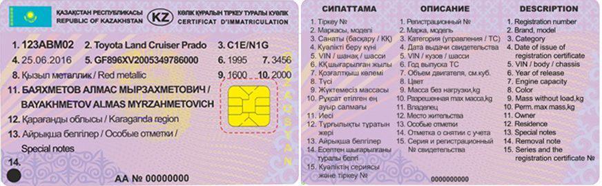 Техпаспорта с чипами начнут выдавать в Казахстане с 1 декабря