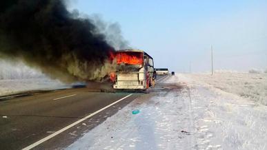 52 человека сгорели в автобусе. Владелец задержан в Ташкенте