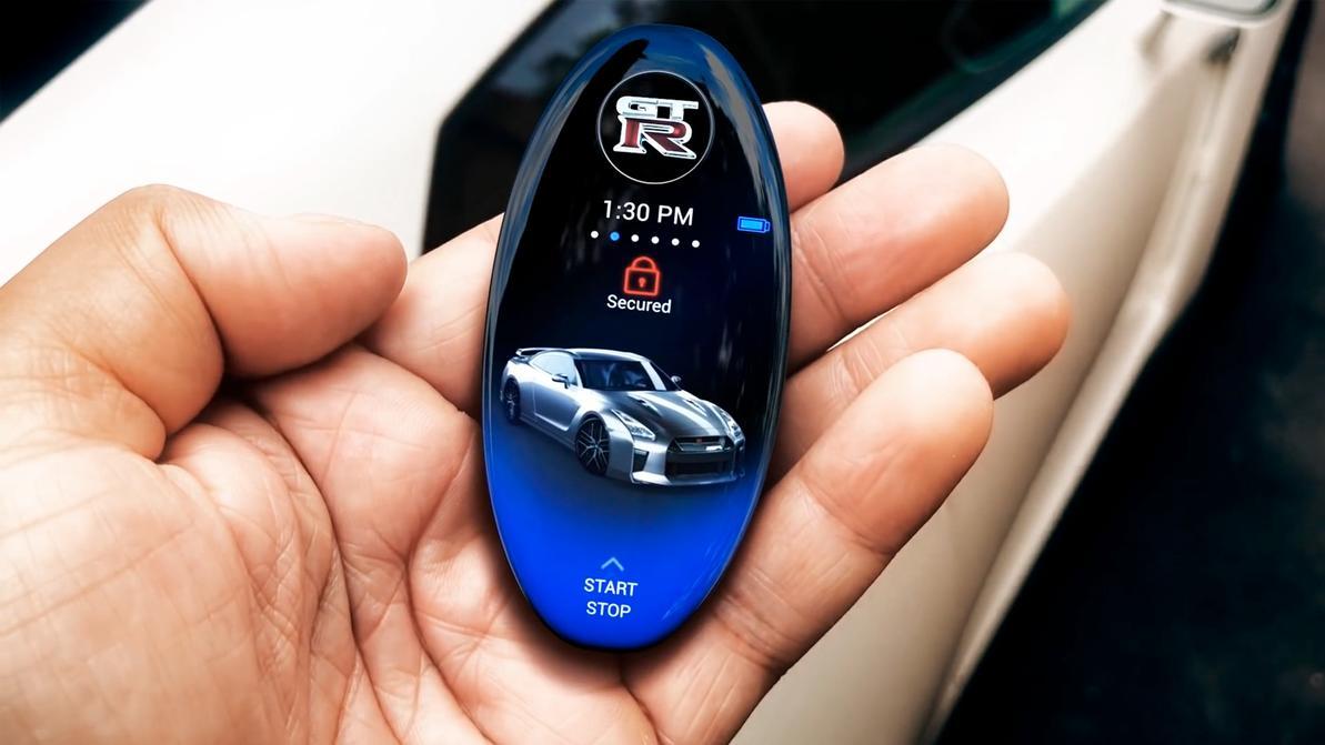 Для Nissan GT-R придумали умный ключ с дисплеем