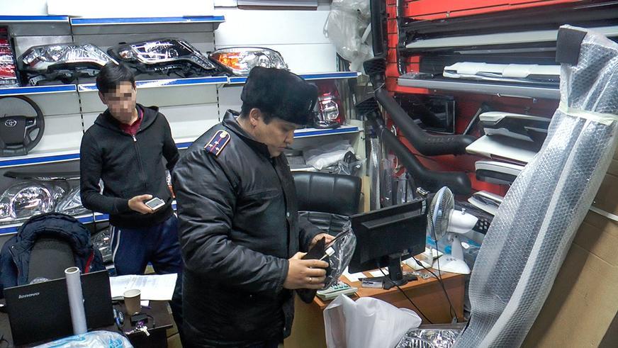 Боковые зеркала без документов изымают на рынках Алматы