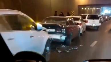 Массовое ДТП на Саина в Алматы серьёзно осложнило движение