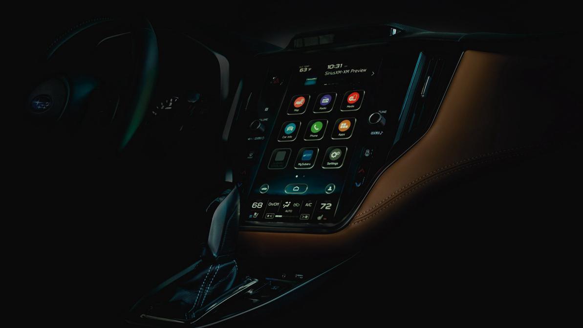 Новая Subaru Legacy получит дисплей в стиле Tesla