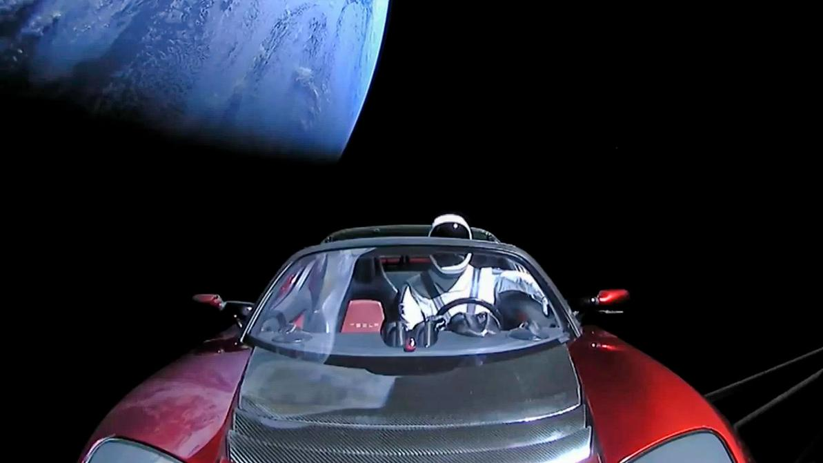 Tesla, отправленная в космос, пролетела 364.5 миллиона километров