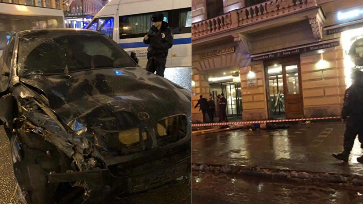 BMW X6 влетел в толпу людей в Санкт-Петербурге