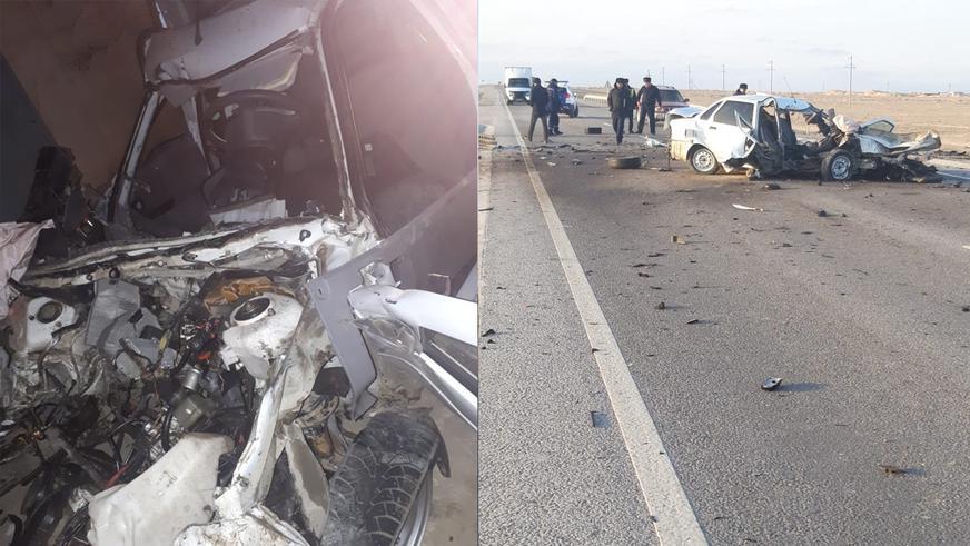 Шесть машин столкнулись на трассе. Два человека погибли