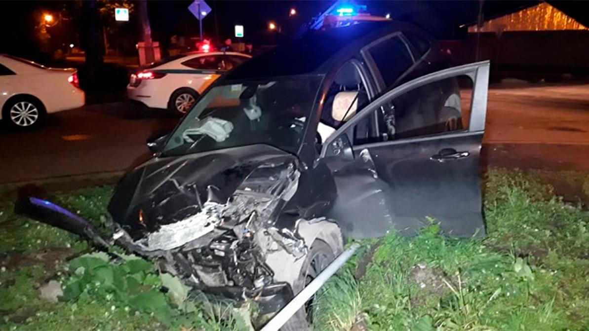 Пьяный водитель на Lada XRAY влетел в Daewoo Nexia