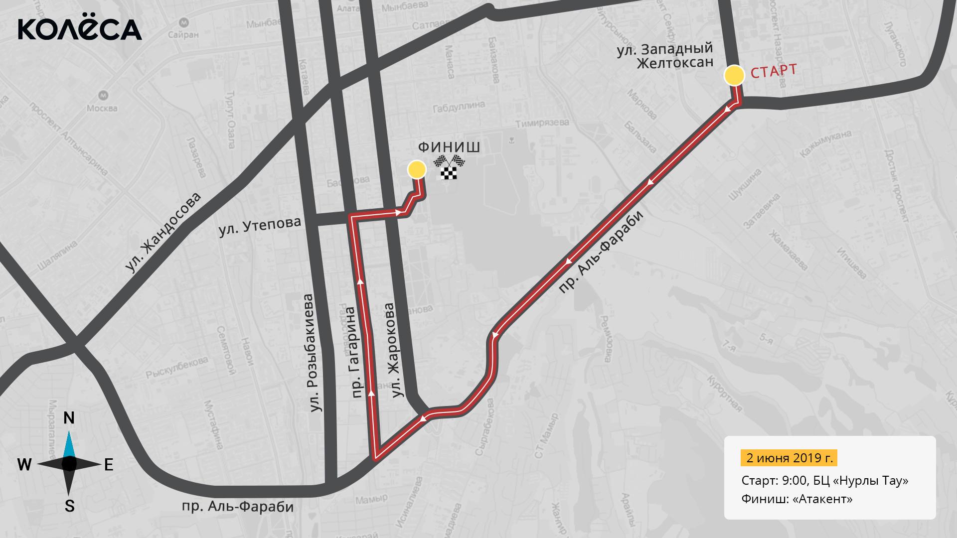 Второй велопробег в Алматы за неделю