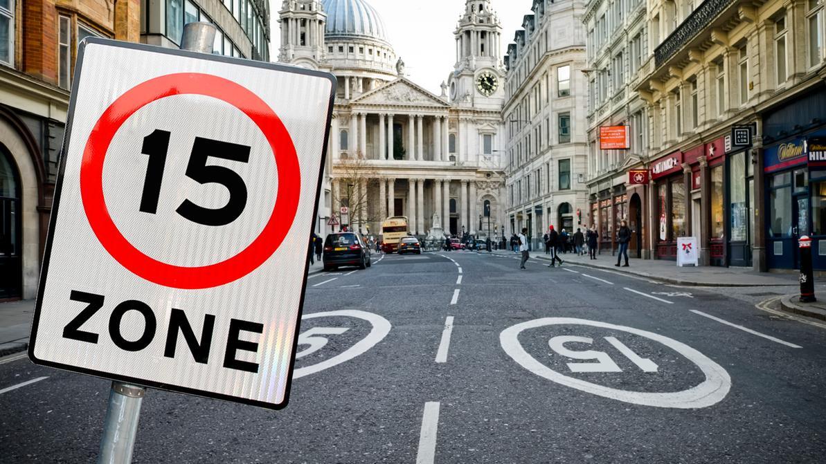 В центре Лондона запретят ездить быстрее 24 км/ч