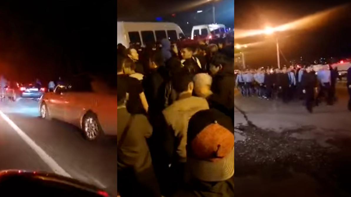 Полицейский попал под колёса авто митингующих в Алматы