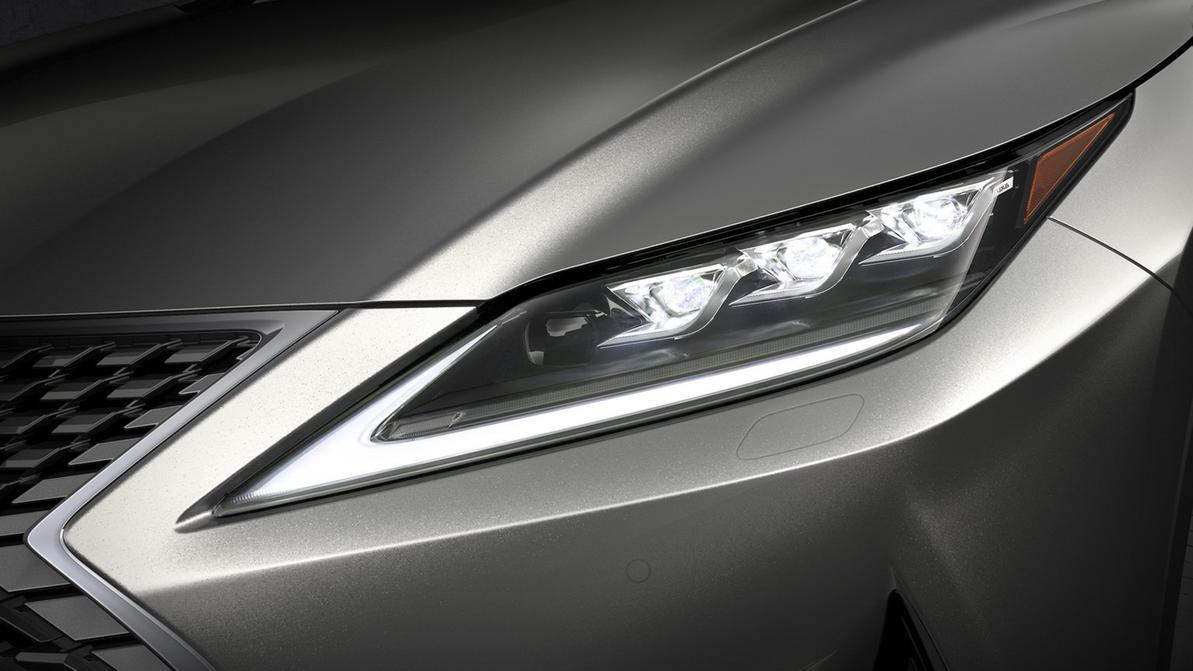 Lexus показал новые фары RX в деле