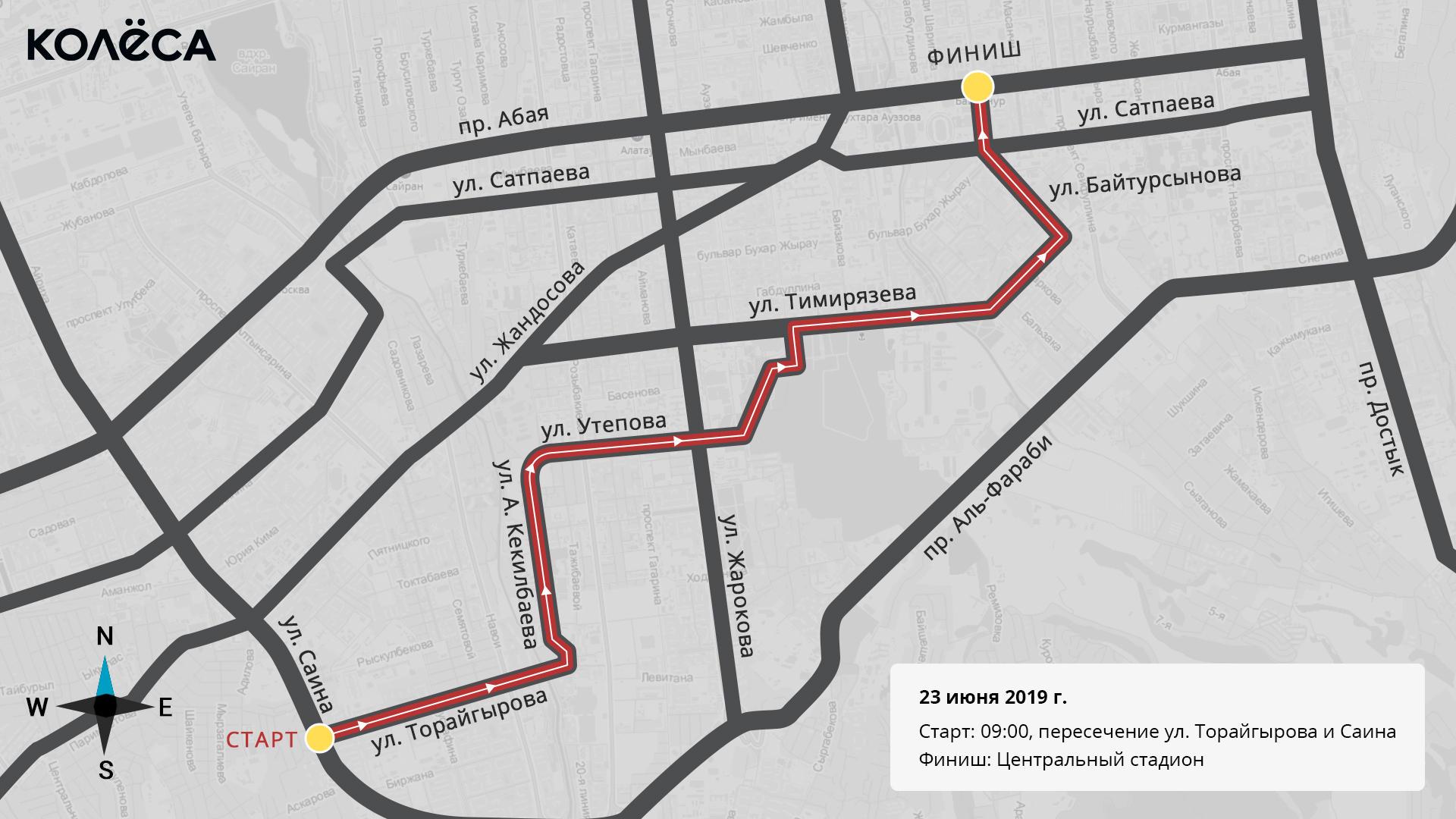 Велопробег ко Дню олимпийца пройдёт в Алматы 23 июня