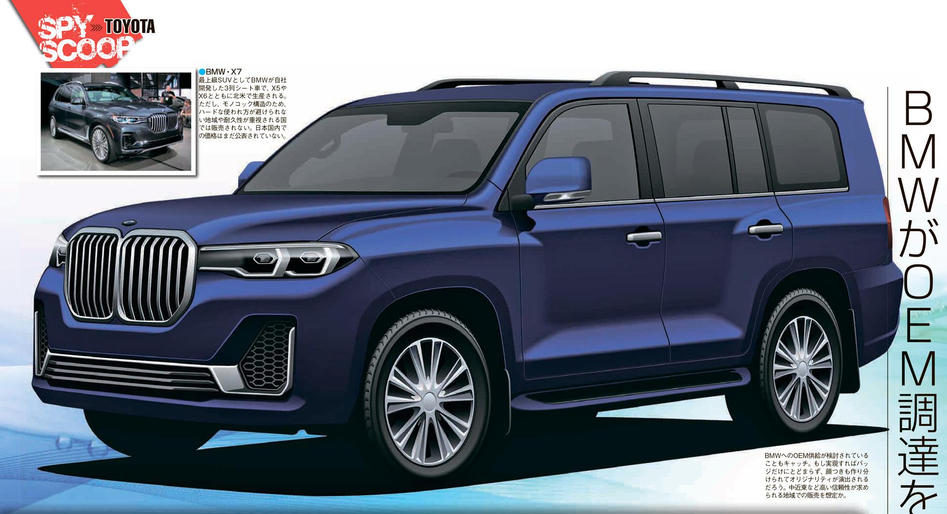BMW может выпустить модель на платформе Toyota Land Cruiser